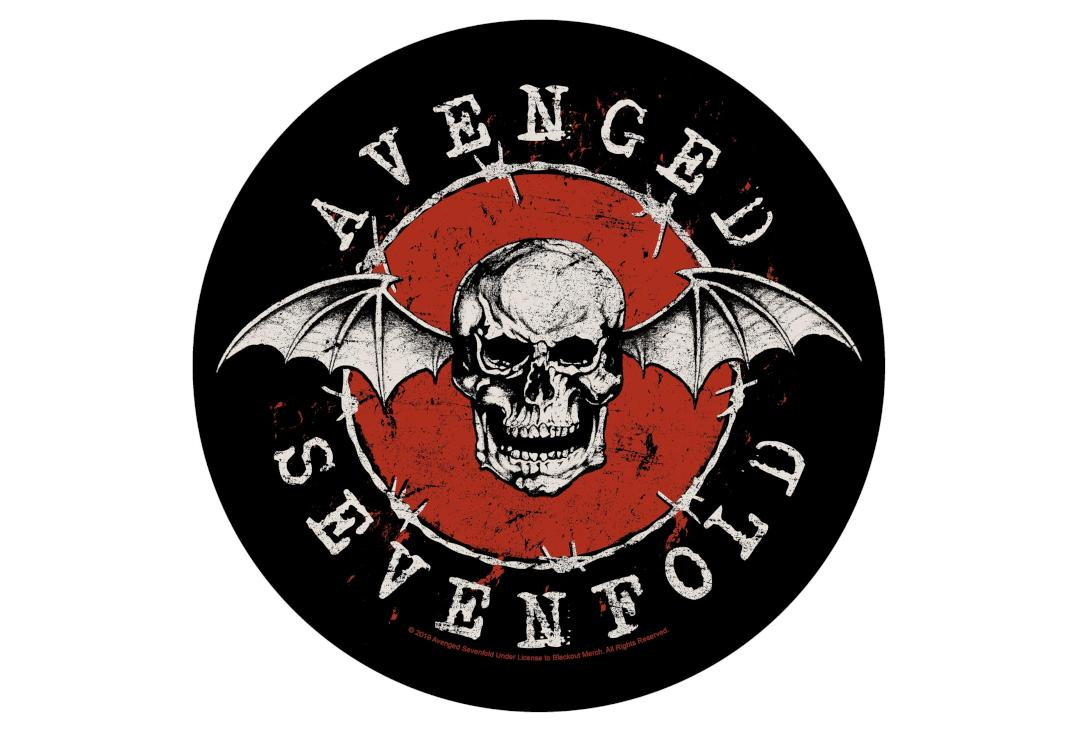 Official Band Merch | Avenged Sevenfold - Distressed Skull Printed Back Patch
