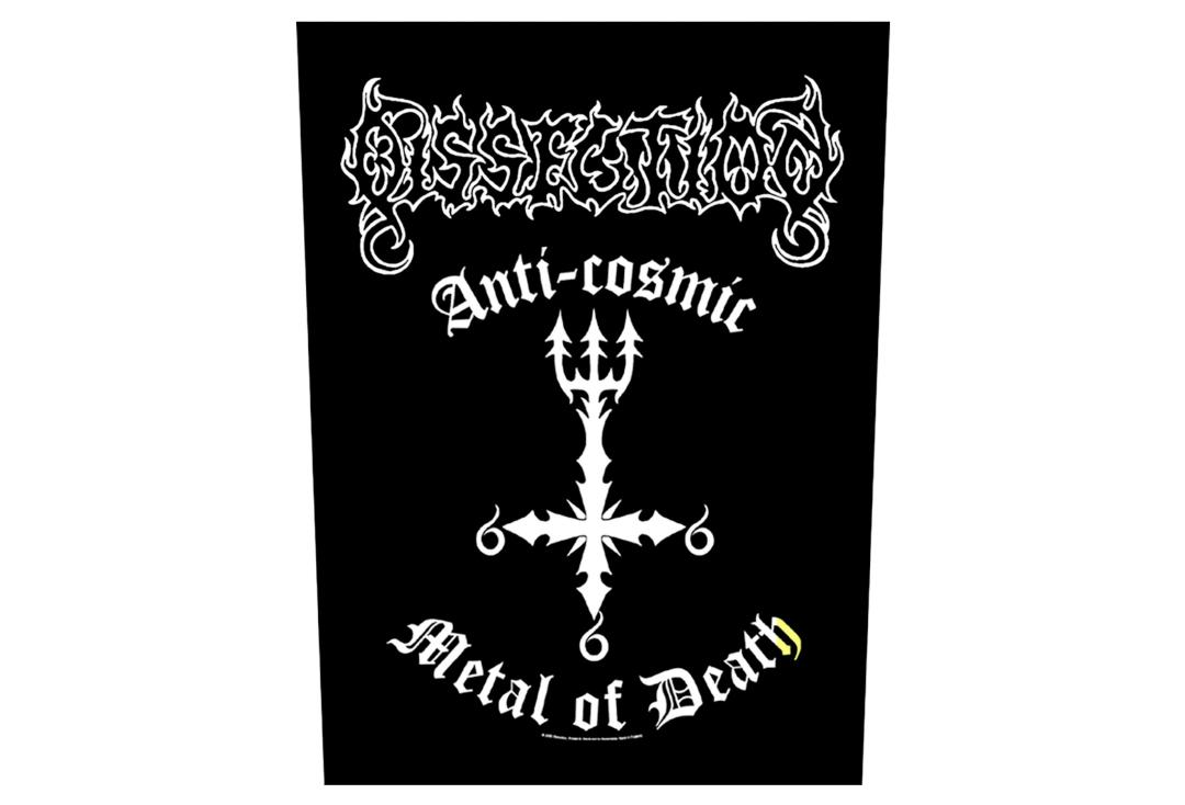 Official Band Merch | Dissection - Anti Cosmic Metal Of Death Printed Back Patch