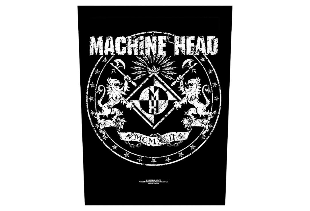 Official Band Merch | Machine Head - Small Crest Printed Back Patch