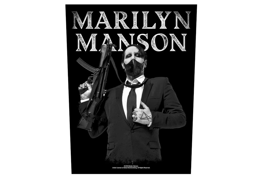 Official Band Merch | Marilyn Manson - Machine Gun Printed Back Patch