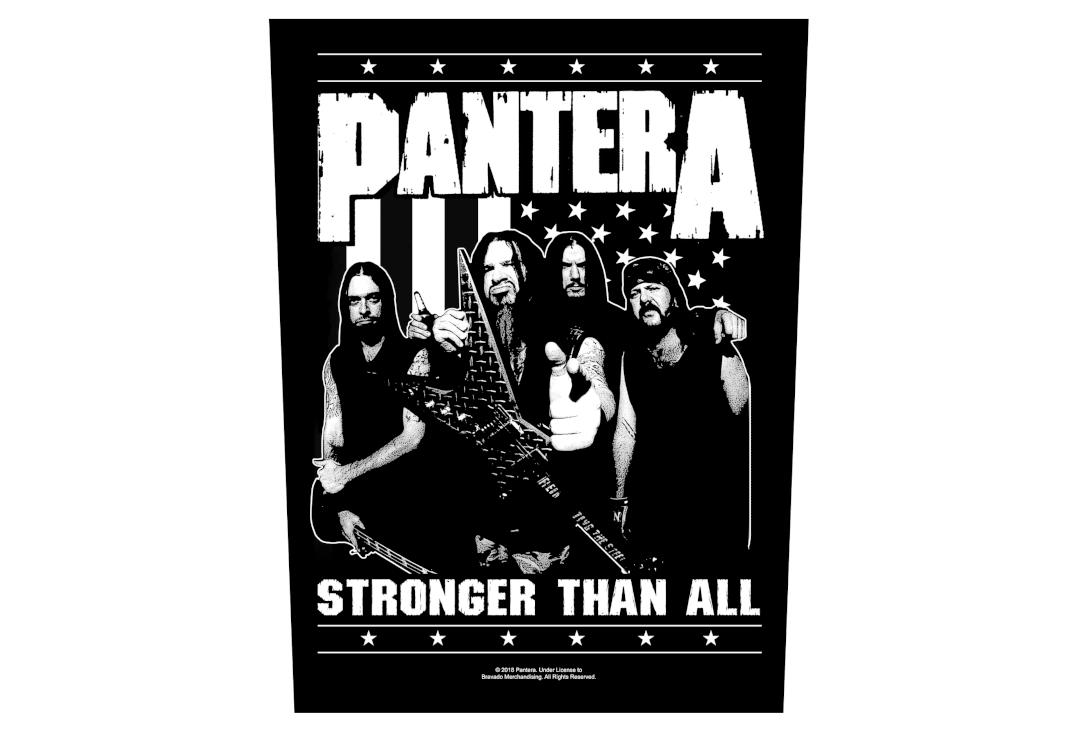 Official Band Merch | Pantera - Stronger Than All Band Printed Back Patch