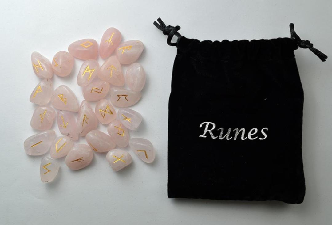 Void Clothing | Rose Quartz Rune Stone Set