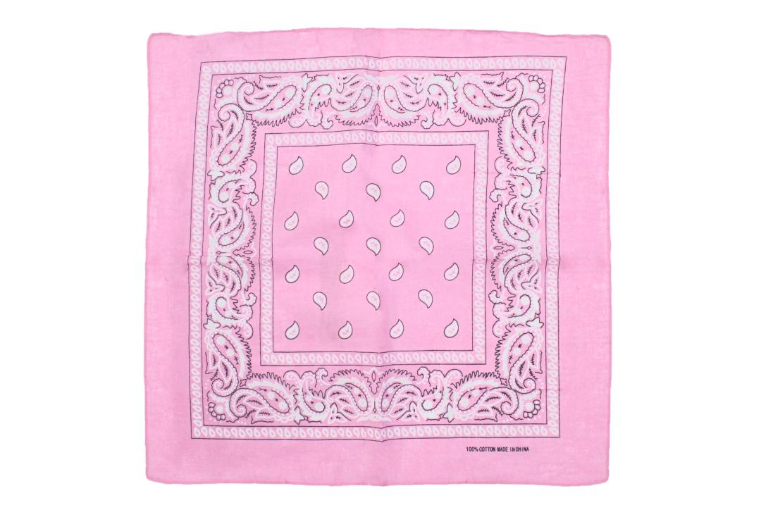 Void Clothing | Baby Pink Paisley Cotton Bandana