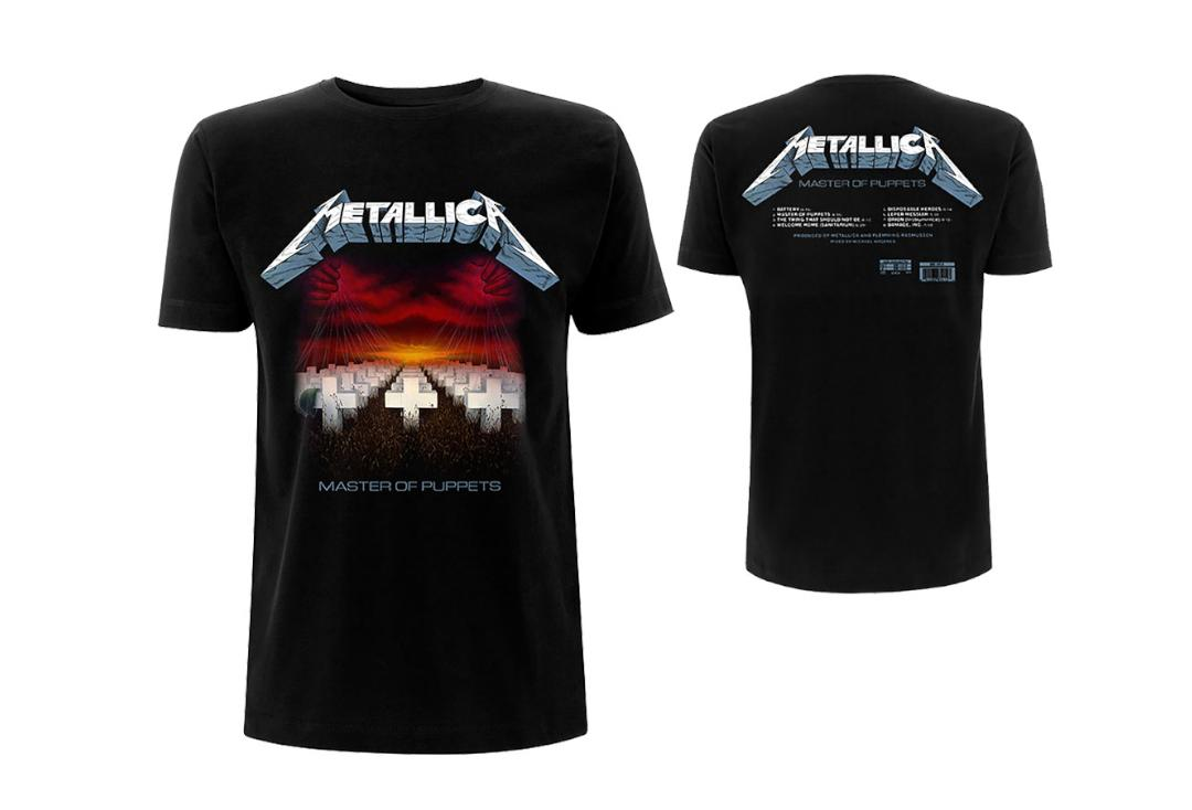 Official Band Merch | Metallica - Master Of Puppets (Album Tracks) Men's Short Sleeve T-Shirt