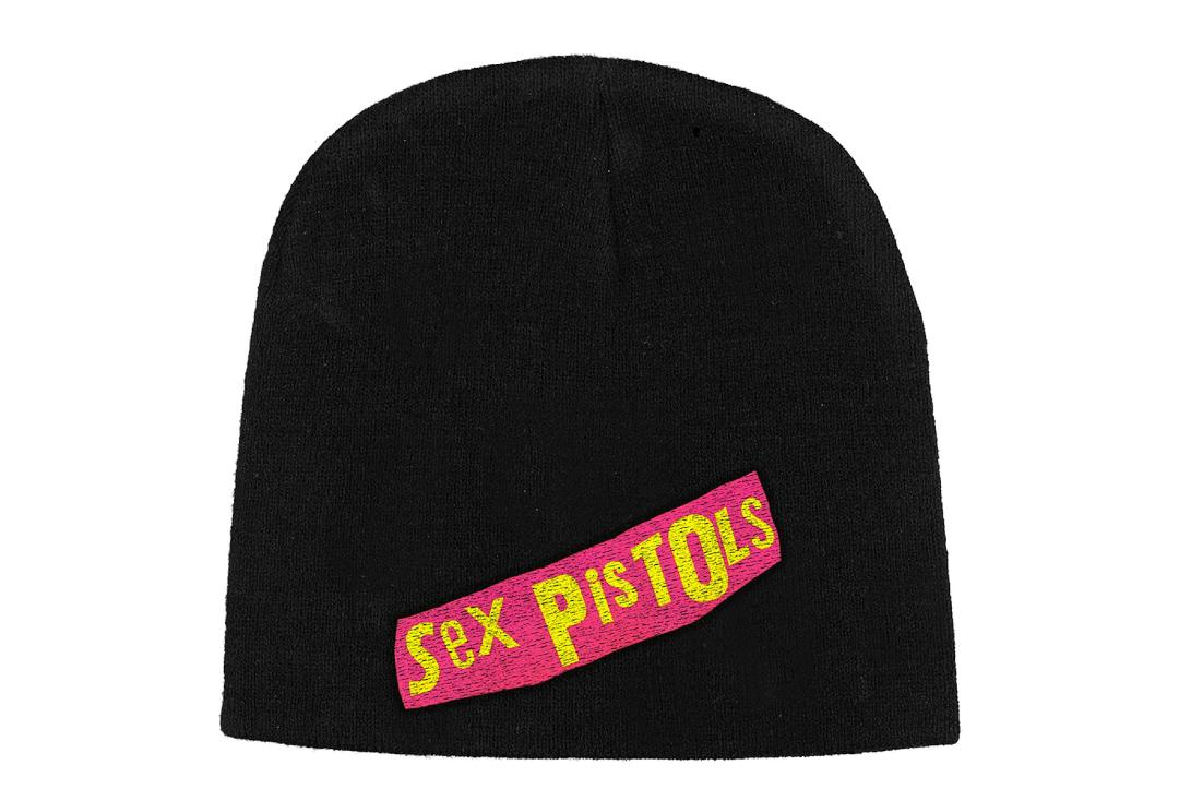 Official Band Merch | Sex Pistols - Logo Embroidered Official Knitted Beanie Hat