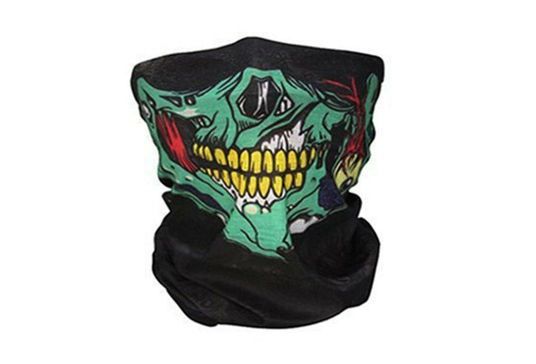 Void Clothing | Green Zombie Skull 12-in-1 Snood