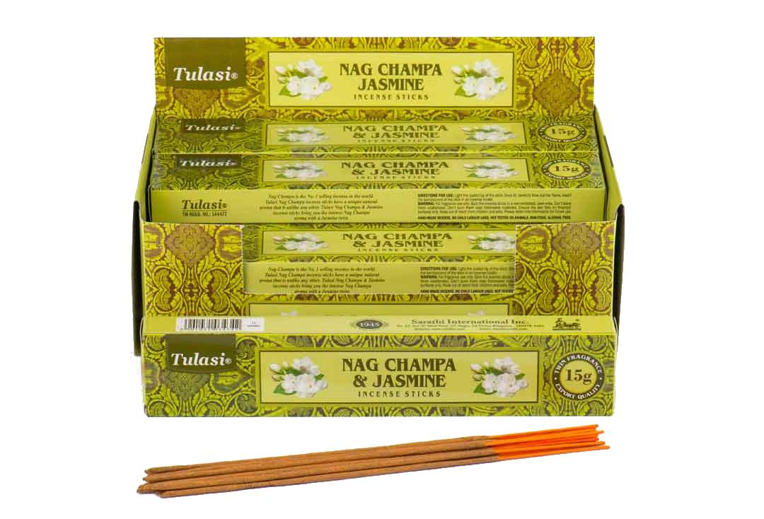 Tulasi | Jasmine & Nag Champa Incense Sticks