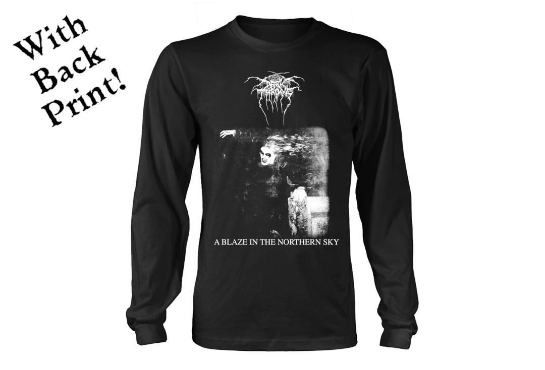 Official Band Merch | Darkthrone - A Blaze In The Northern Sky Men's Official Long Sleeve T-Shirt - Front