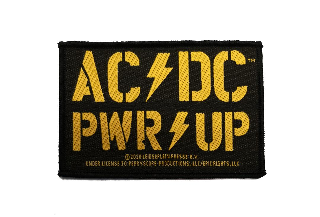 Official Band Merch | AC/DC - PWR UP Yellow Woven Patch