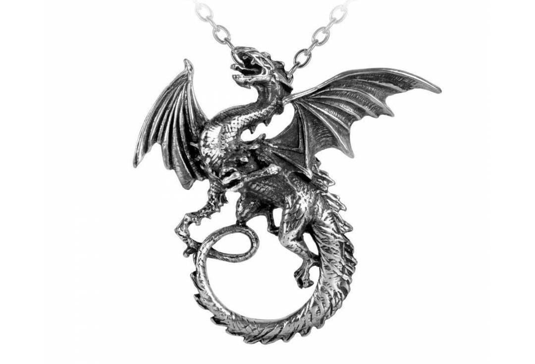 Alchemy Gothic | The Whitby Wyrm Pendant - Main
