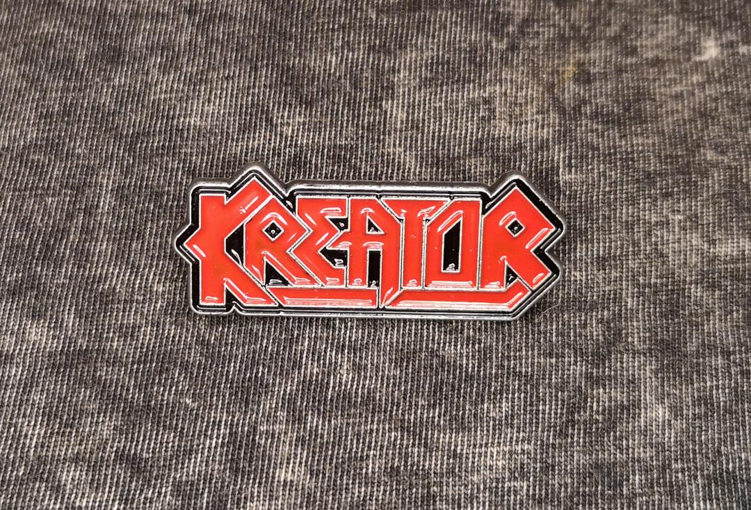 Official Band Merch | Kreator - Logo Metal Pin Badge - Front