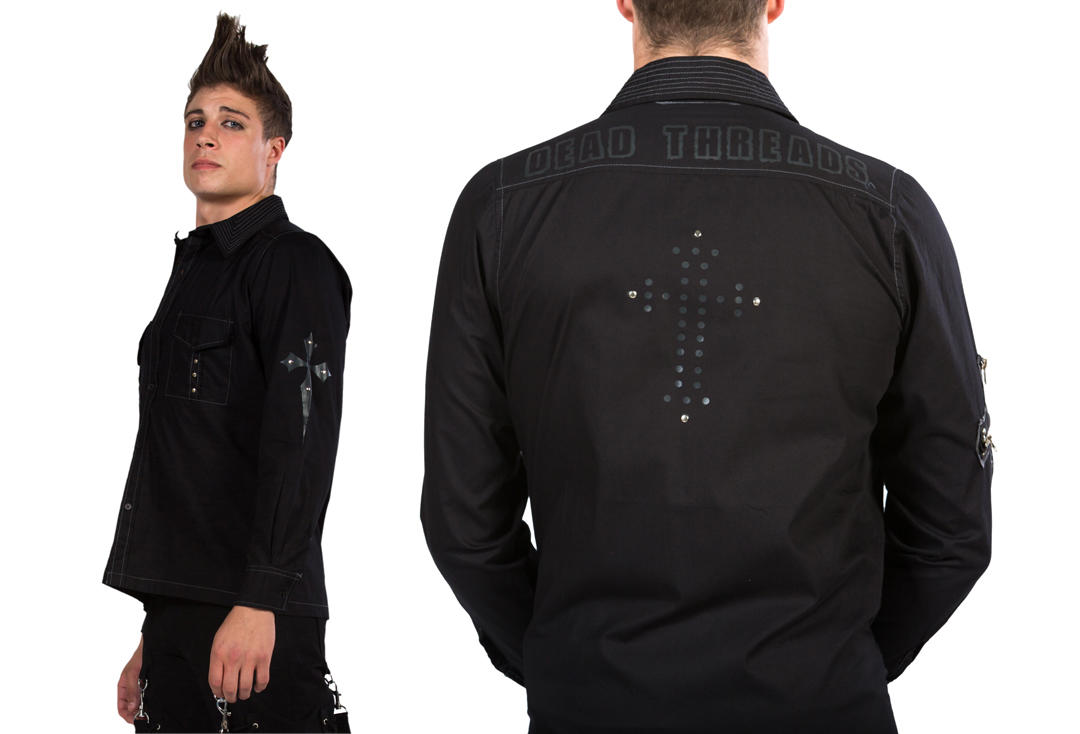 Dead Threads | Cross Detail 9566 Long Sleeve Shirt - Back