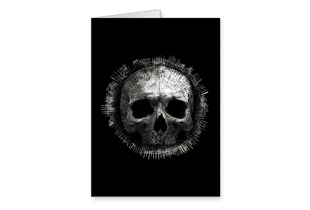 Void Clothing | Black Skull Greetings Card
