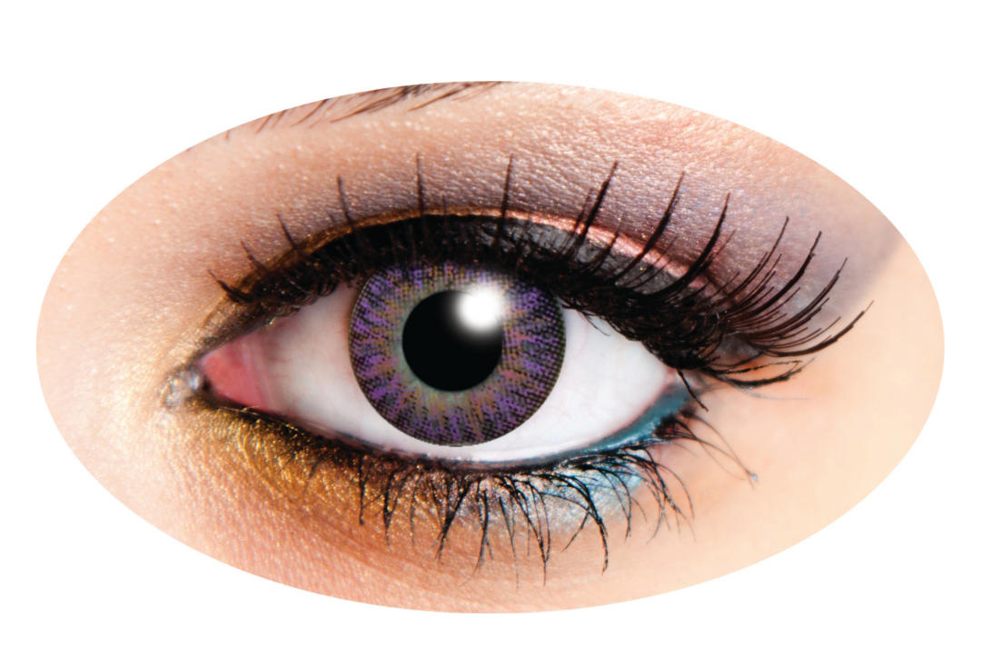 Innovision | Tri-Tone Violet 90 Day Contact Lenses