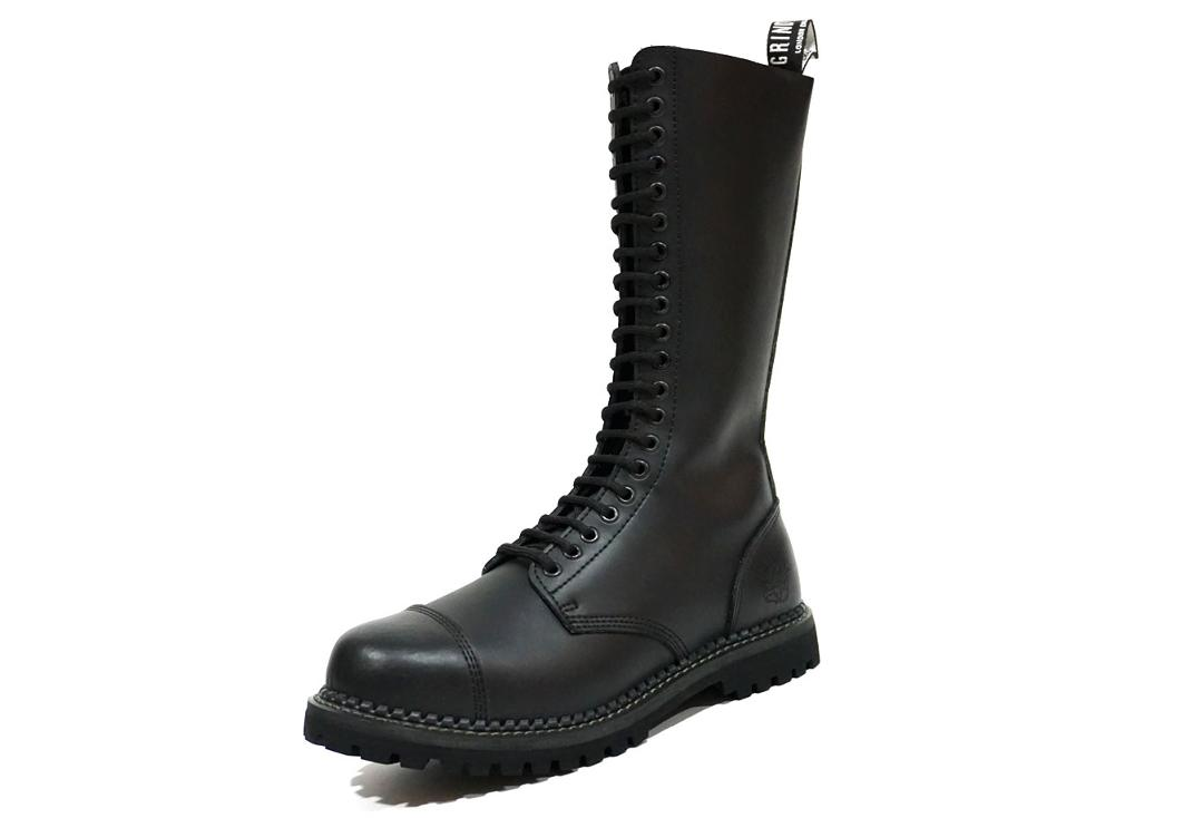 Grinders | King Men's Black Leather Boots