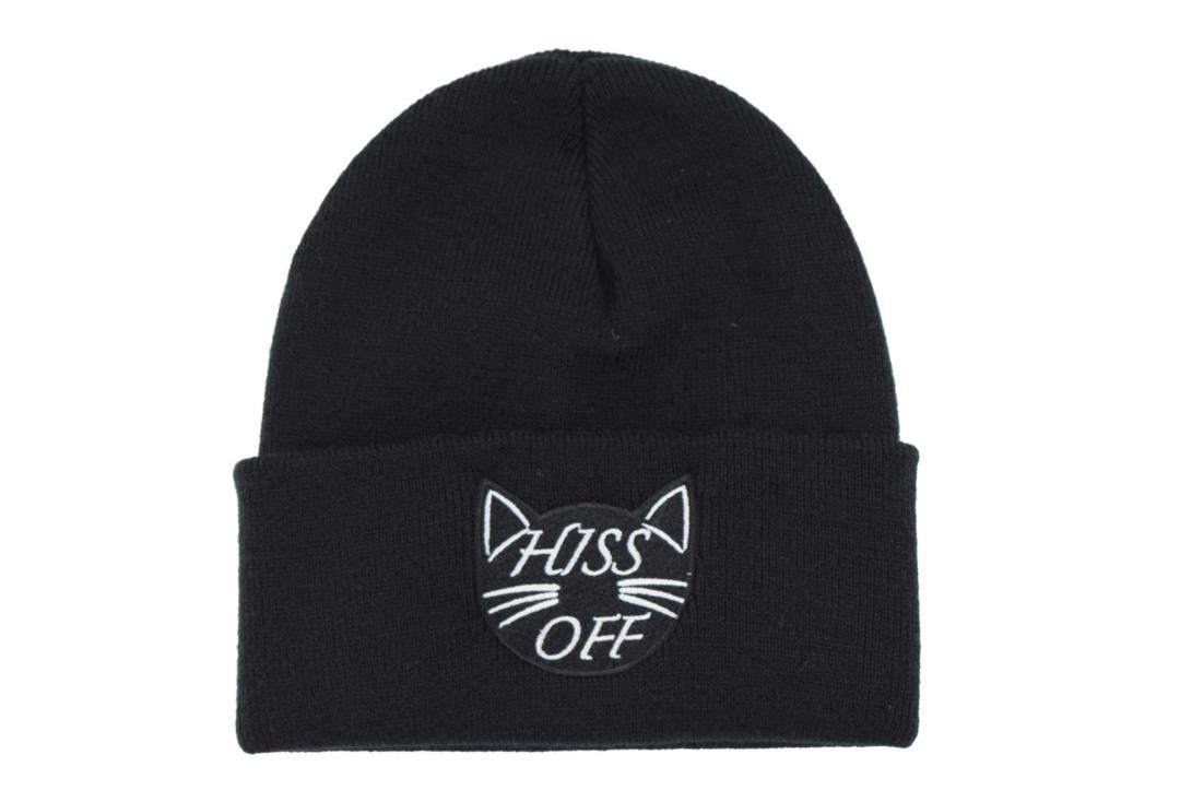 Darkside | Hiss Off Black Beanie Hat - Front