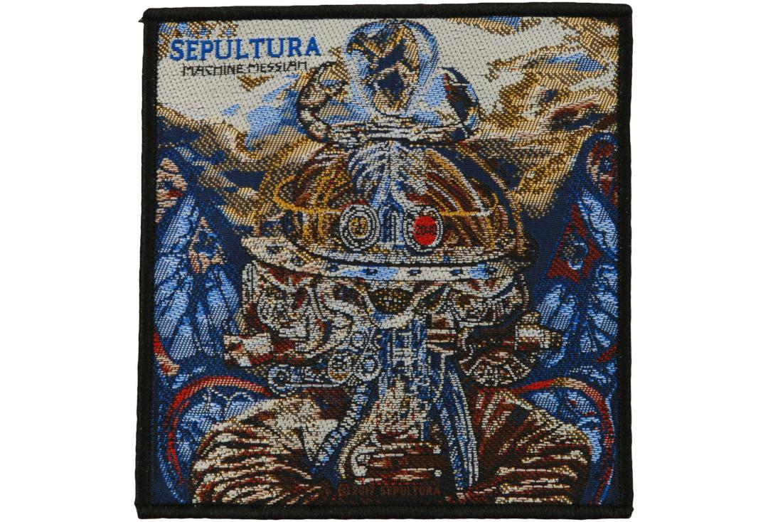 Official Band Merch | Sepultura - Machine Messiah Woven Patch