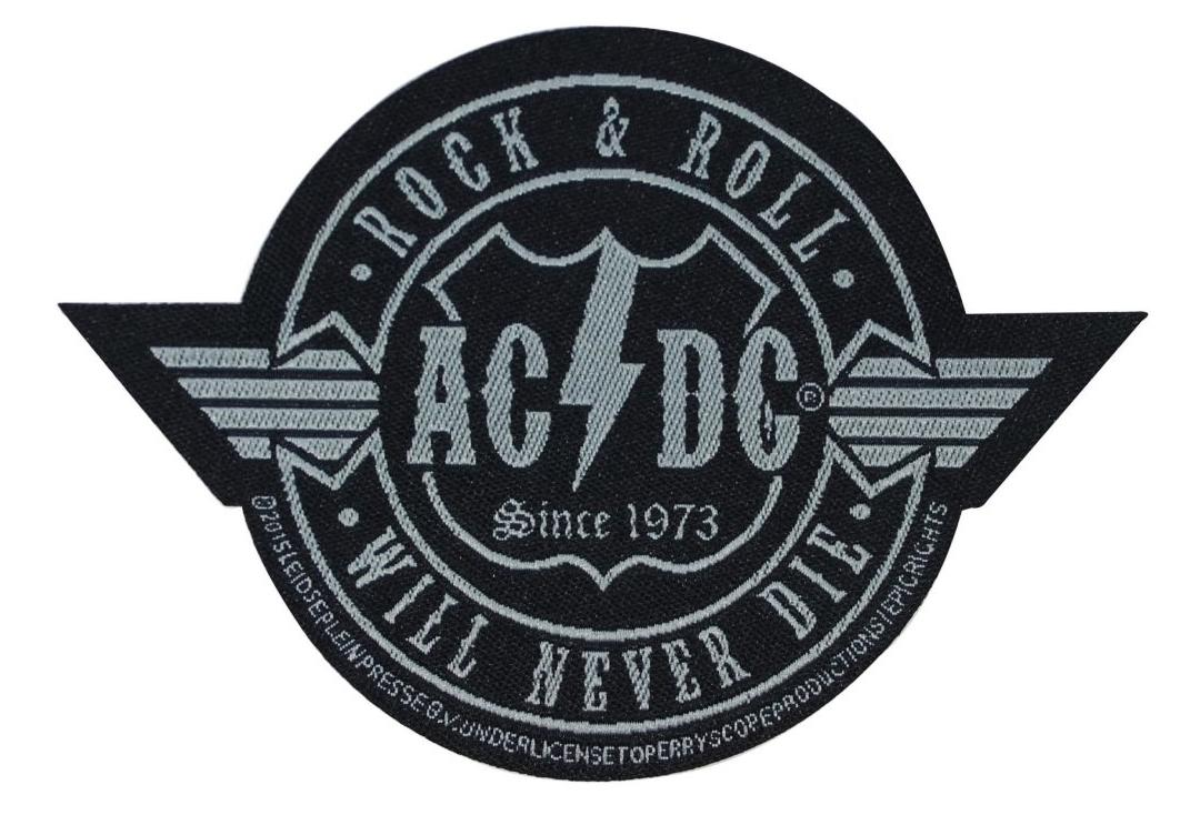 Official Band Merch | AC/DC - Rock & Roll Will Never Die Woven Patch