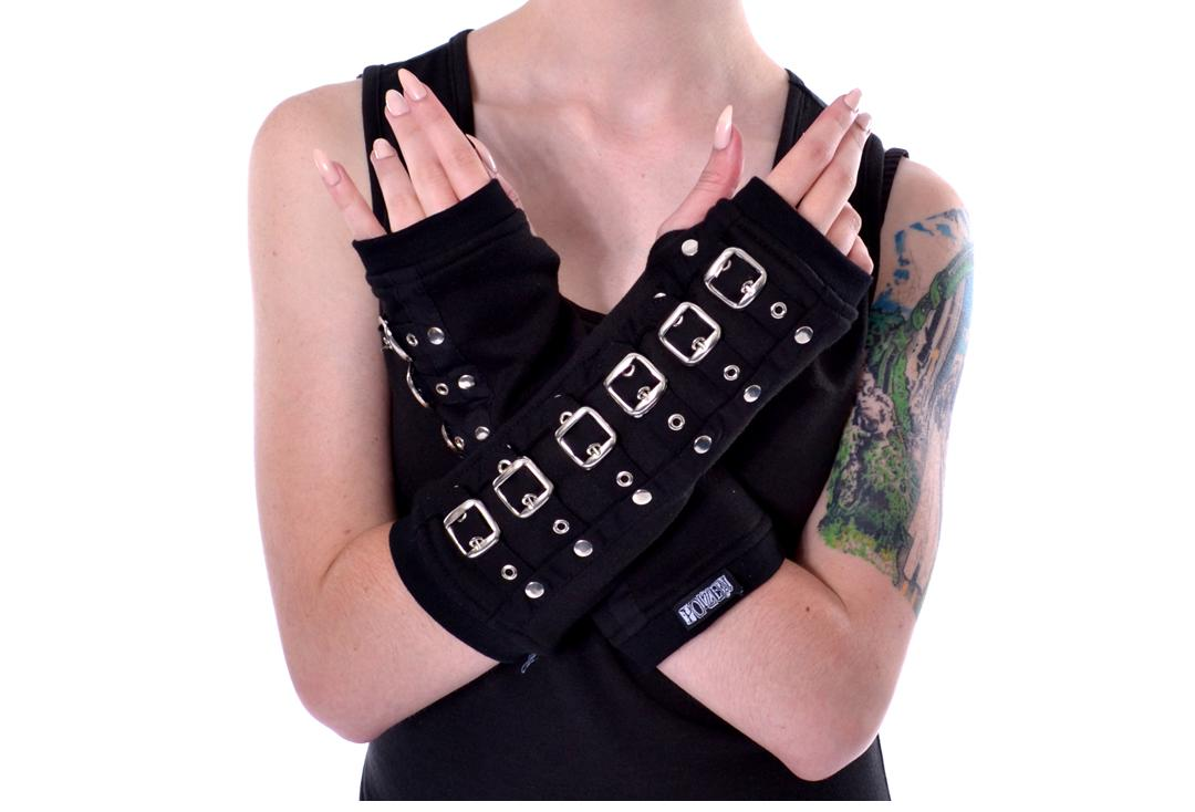 Poizen Industries | Silver Buckle Armwarmers