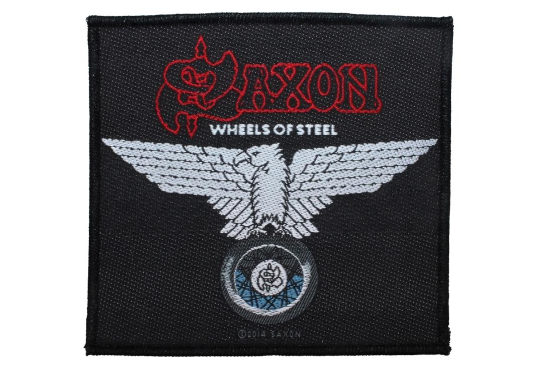 Official Band Merch | Saxon - Wheels Of Steel Woven Patch