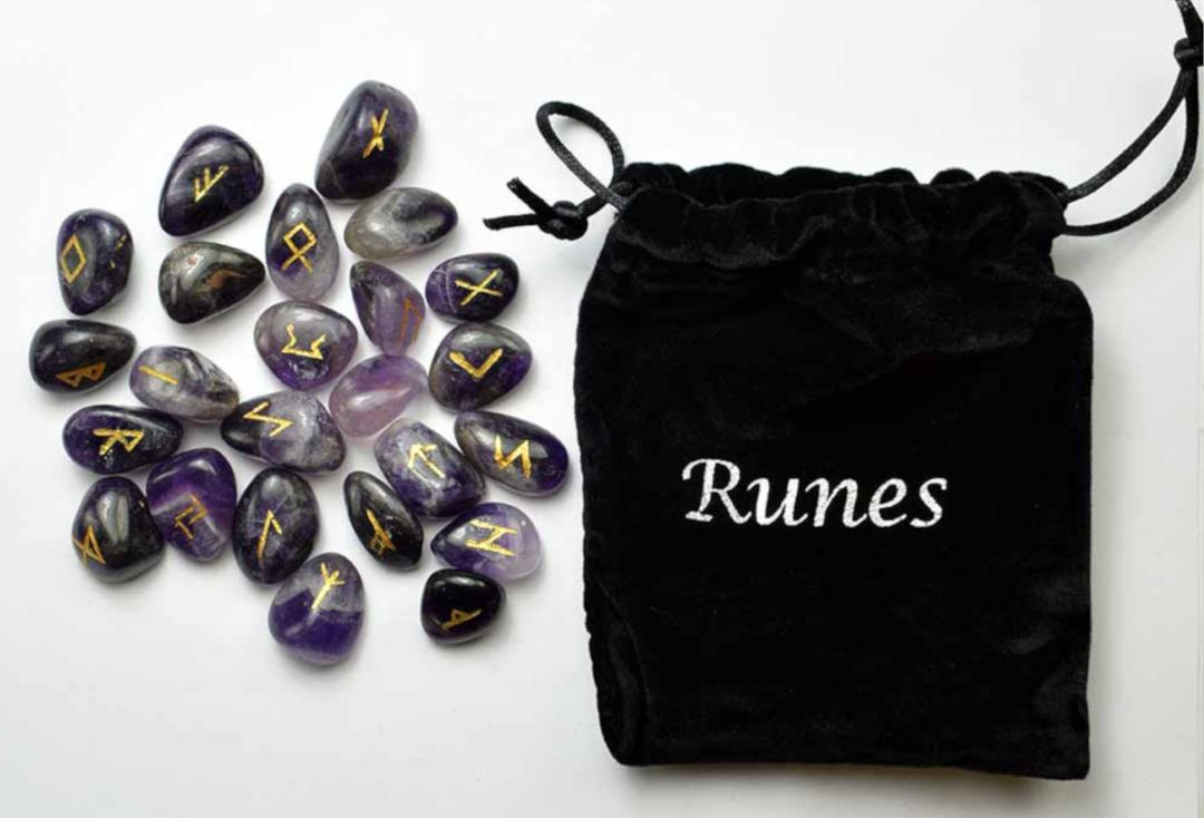 Void Clothing | Amethyst Rune Stone Set