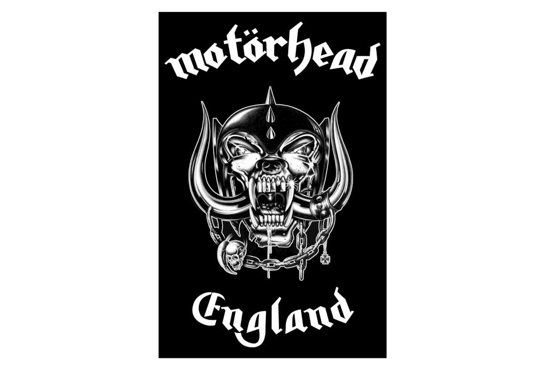 Official Band Merch | Motorhead - England Printed Textile Poster