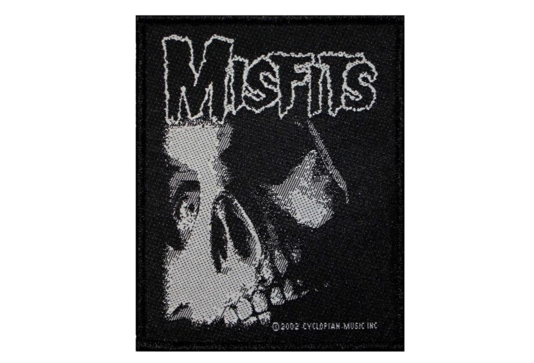 Official Band Merch | Misfits - Cuts From The Crypt Skull Woven Patch