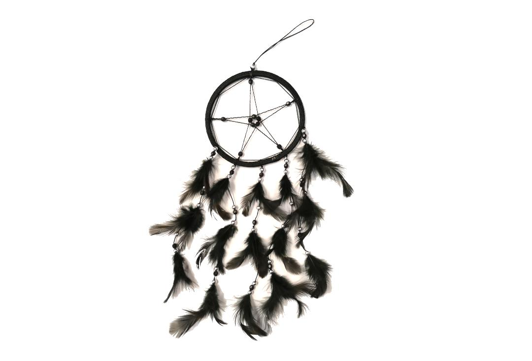 Void Clothing | Black Feather Pentagram Dream Catcher