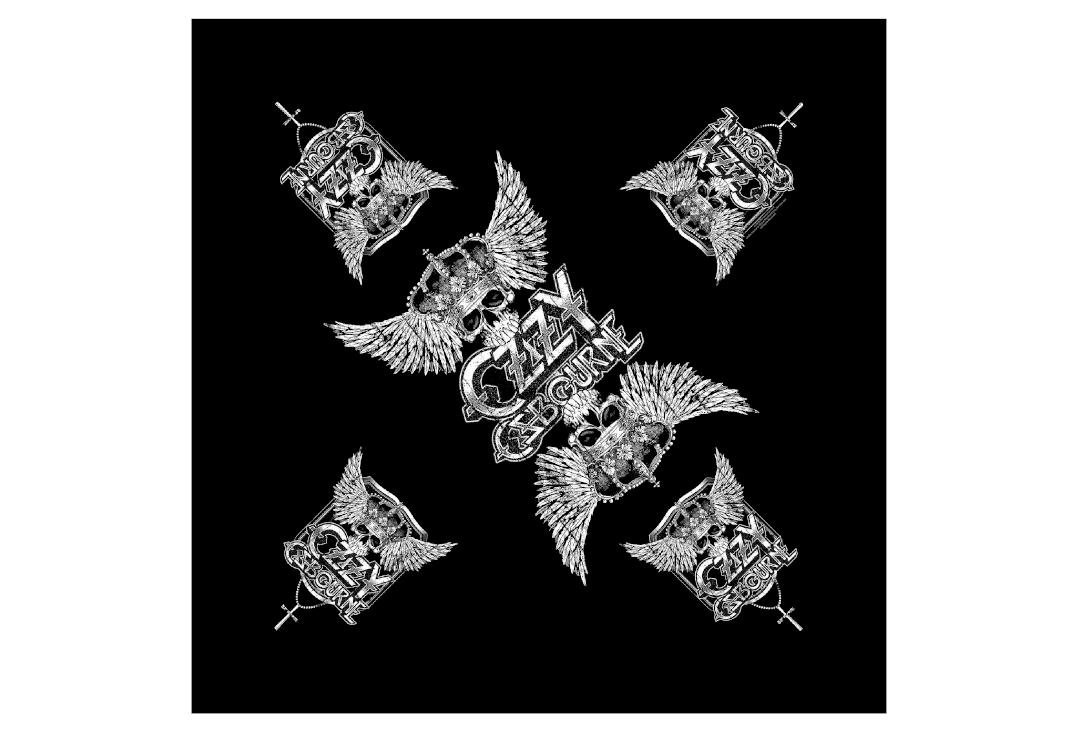 Official Band Merch | Ozzy Osbourne - Skull & Wings Bandana