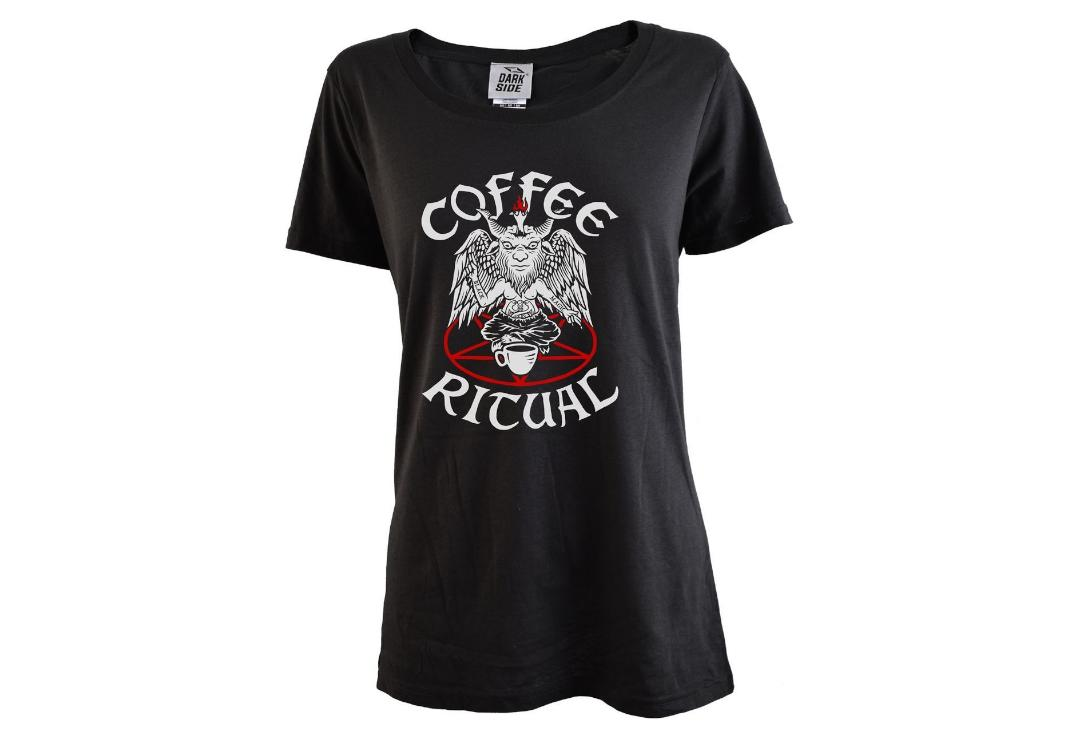 Darkside Clothing | Coffee Ritual Scoop Neck Loose Fit Women's T-Shirt - Main