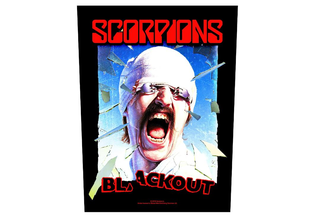 Official Band Merch | Scorpions - Blackout Printed Back Patch