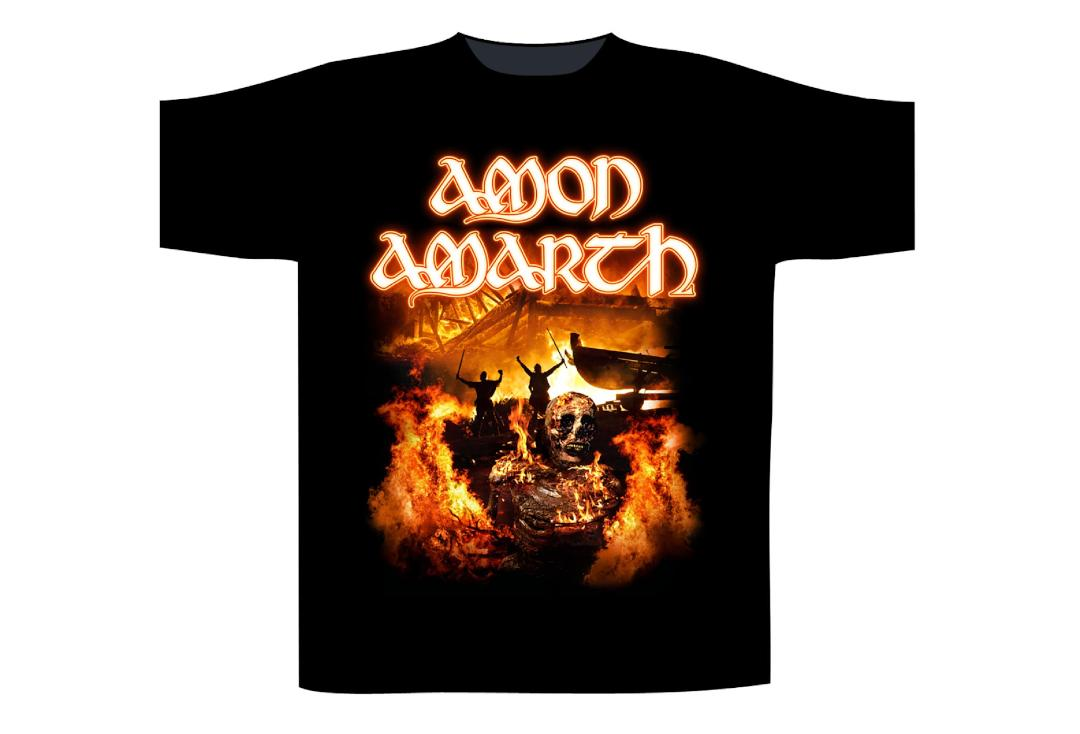 Official Band Merch | Amon Amarth - Death In Fire Men's Short Sleeve T-Shirt