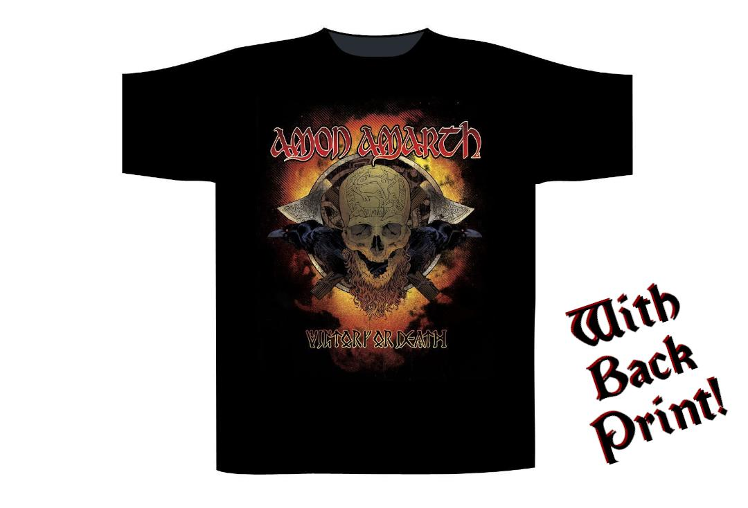 Official Band Merch | Amon Amarth - Victory Or Death Men's Short Sleeve T-Shirt - Front
