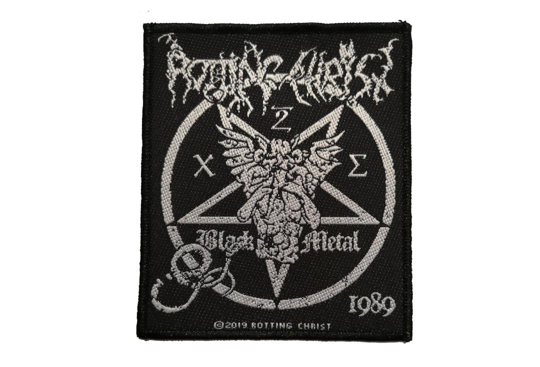 Official Band Merch | Rotting Christ - Black Metal Woven Patch
