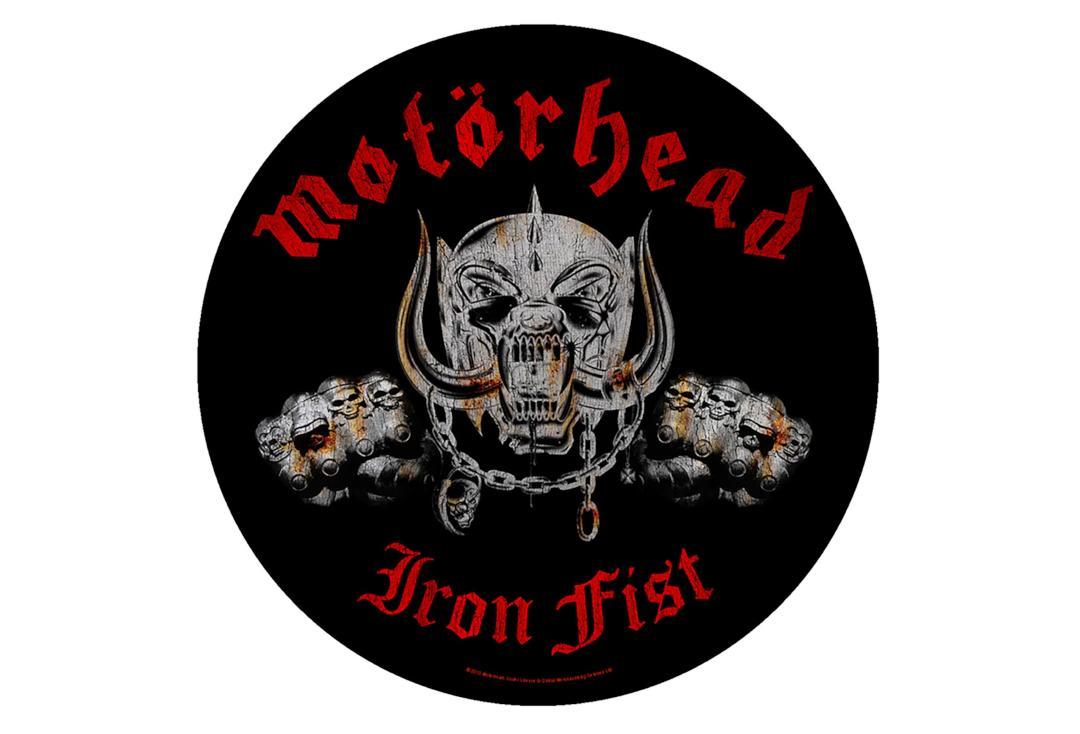 Official Band Merch | Motorhead - Iron Fist Printed Back Patch