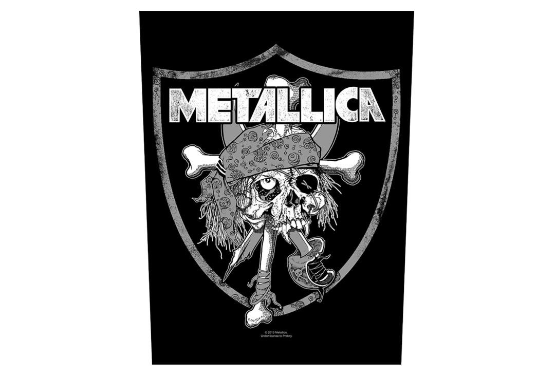 Official Band Merch | Metallica - Raiders Skull Printed Back Patch