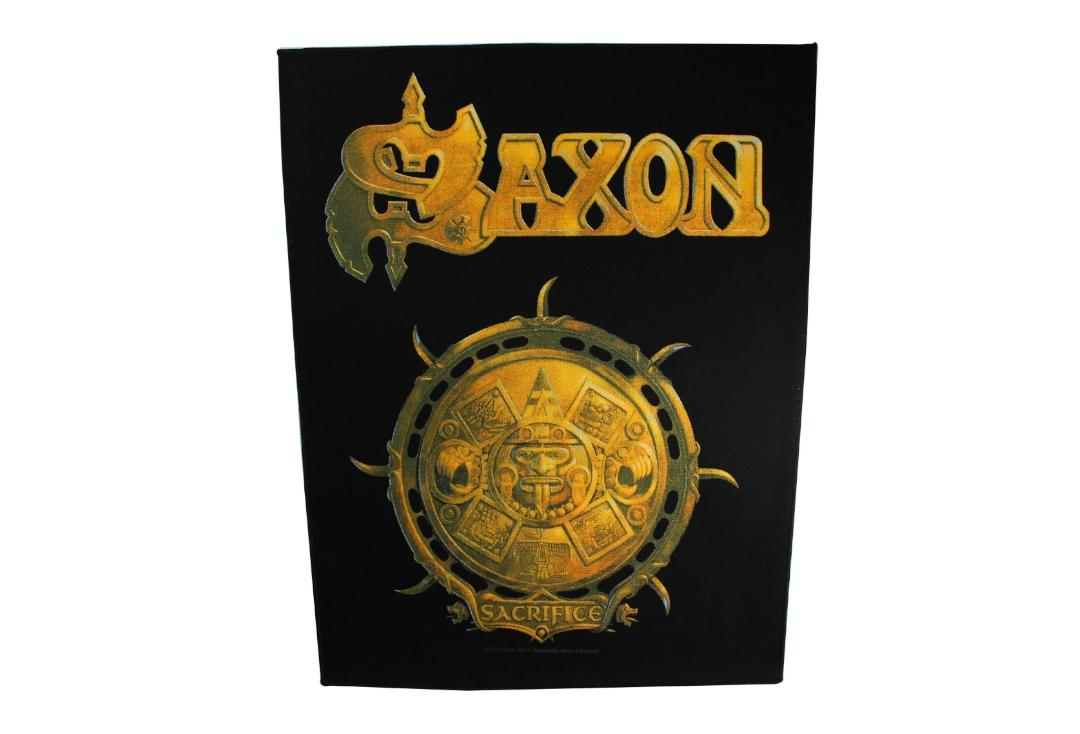 Official Band Merch | Saxon - Sacrifice Printed Back Patch