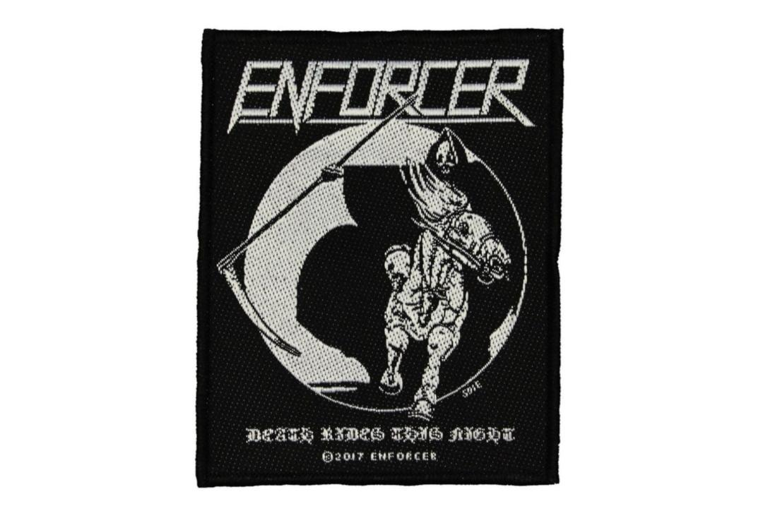 Official Band Merch | Enforcer - Death Rides This Night Woven Patch