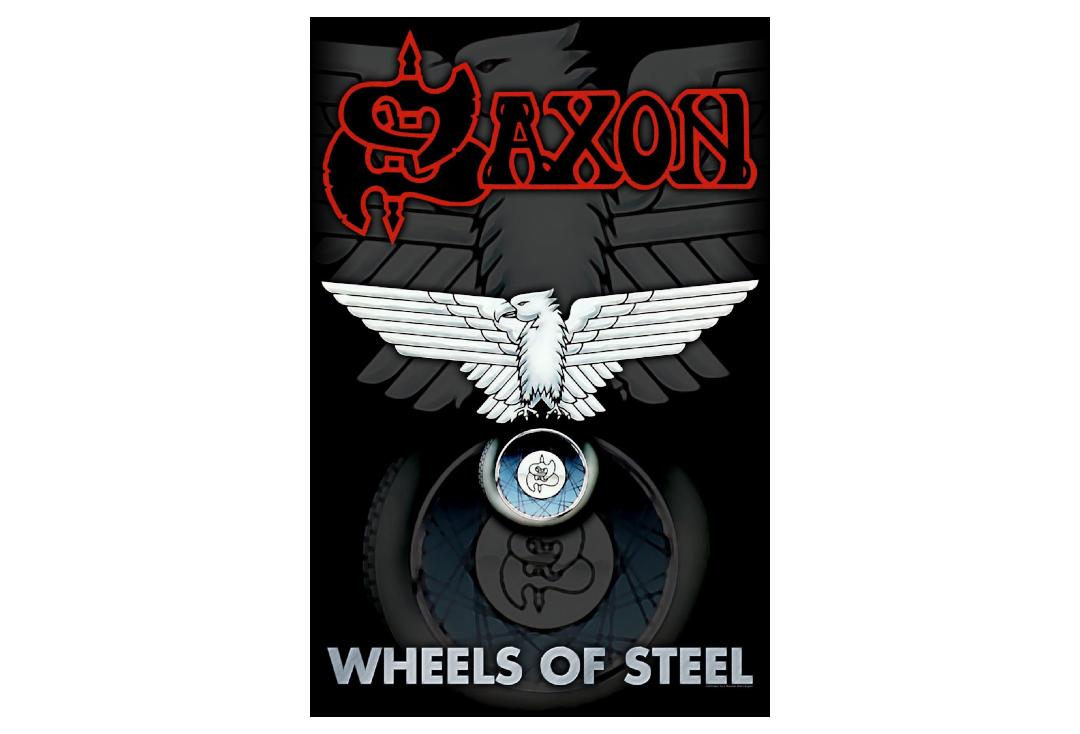 Official Band Merch | Saxon - Wheels Of Steel Printed Textile Poster