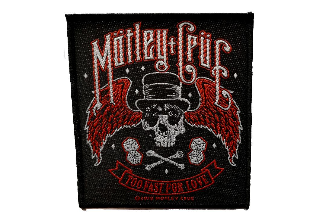 Official Band Merch | Motley Crue - Too Fast For Love Woven Patch
