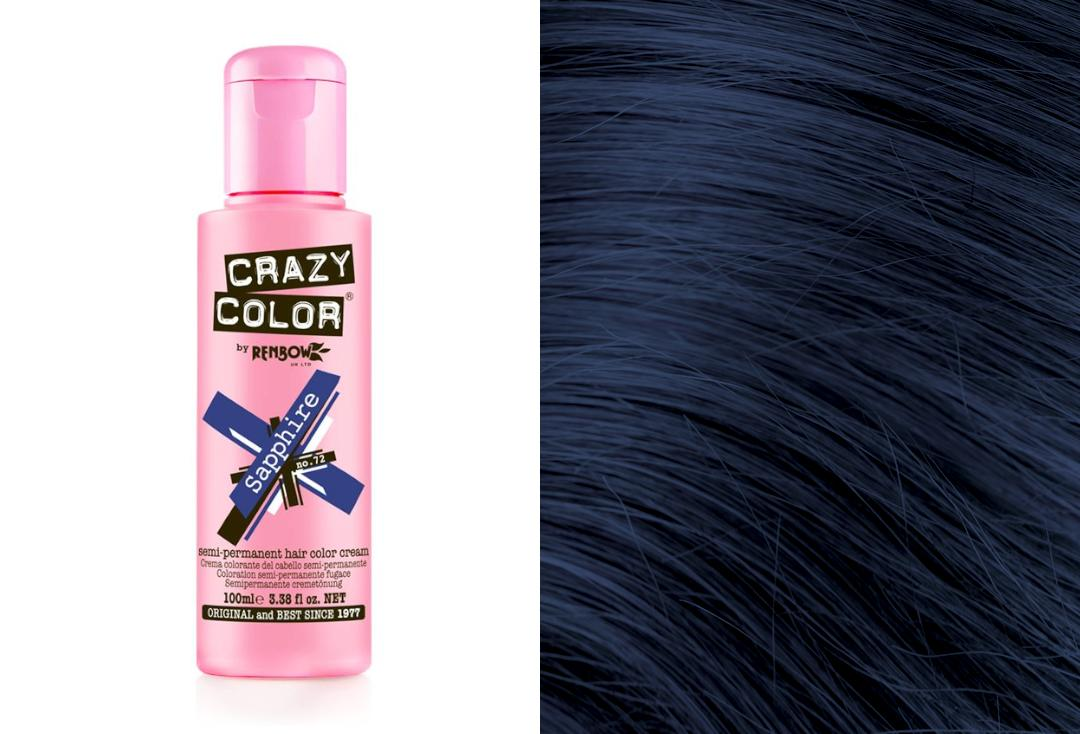 Renbow | Crazy Color Semi-Permanent Hair Colour (072 Sapphire)