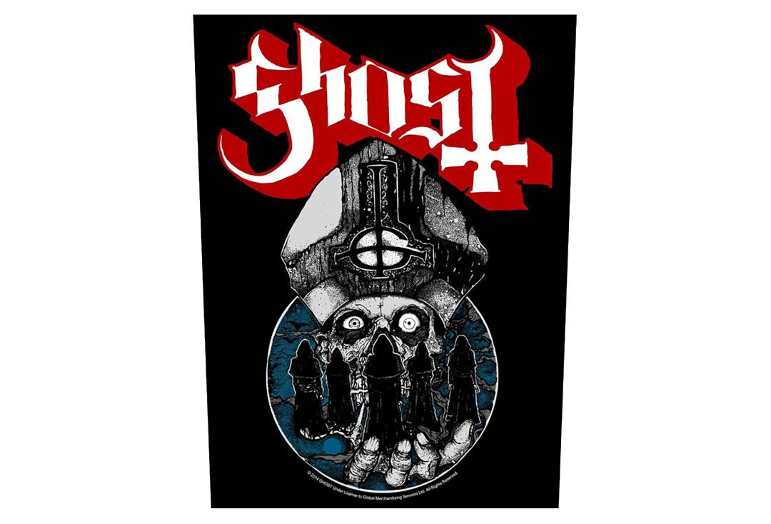 Official Band Merch | Ghost - Papa Warrior Printed Back Patch