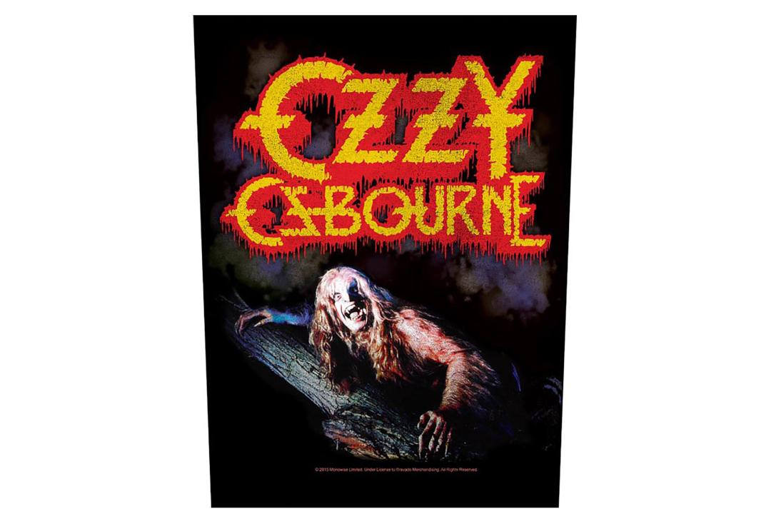 Official Band Merch | Ozzy Osbourne - Bark At The Moon Printed Back Patch