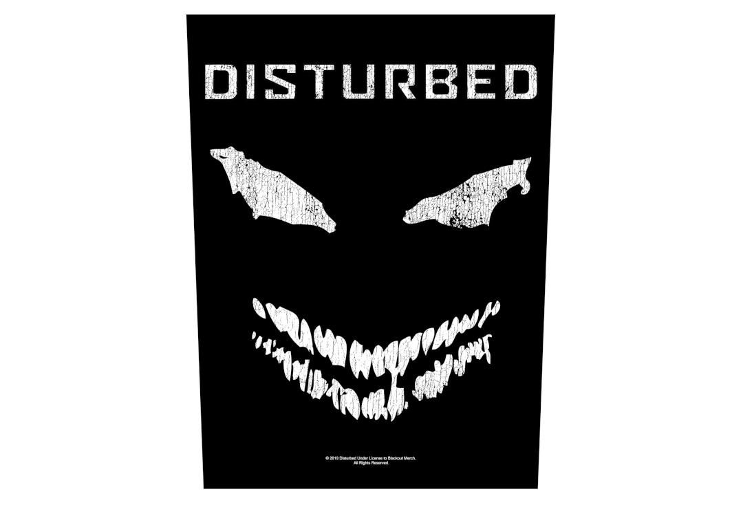 Official Band Merch | Disturbed - Face Printed Back Patch