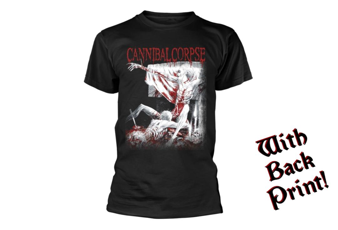 Official Band Merch | Cannibal Corpse - Tomb Of The Mutilated Men's Short Sleeve T-Shirt - Front