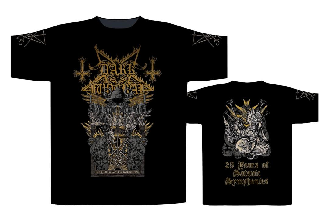 Official Band Merch | Dark Funeral - 25 Years Of Satanic Symphonies Men's Short Sleeve T-Shirt