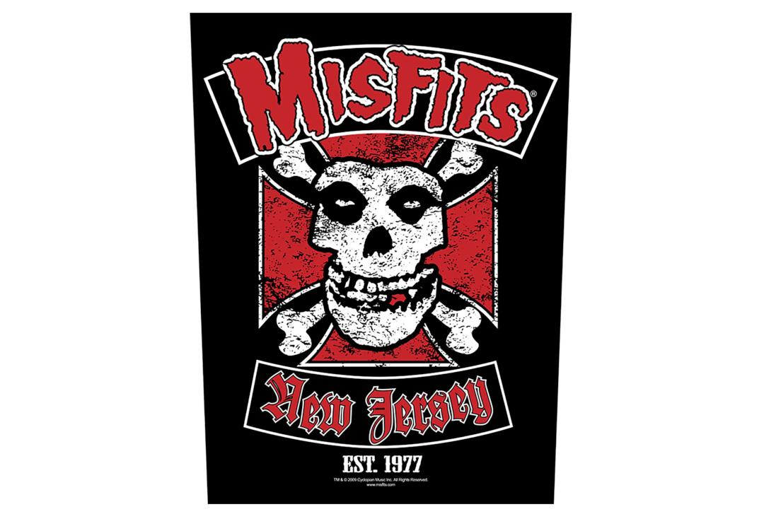 Official Band Merch | Misfits - Biker Printed Back Patch
