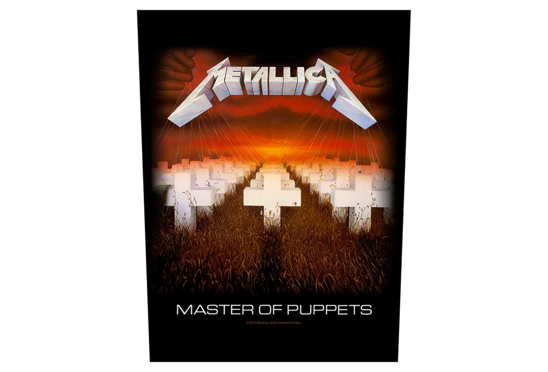 Official Band Merch | Metallica - Master Of Puppets Printed Back Patch