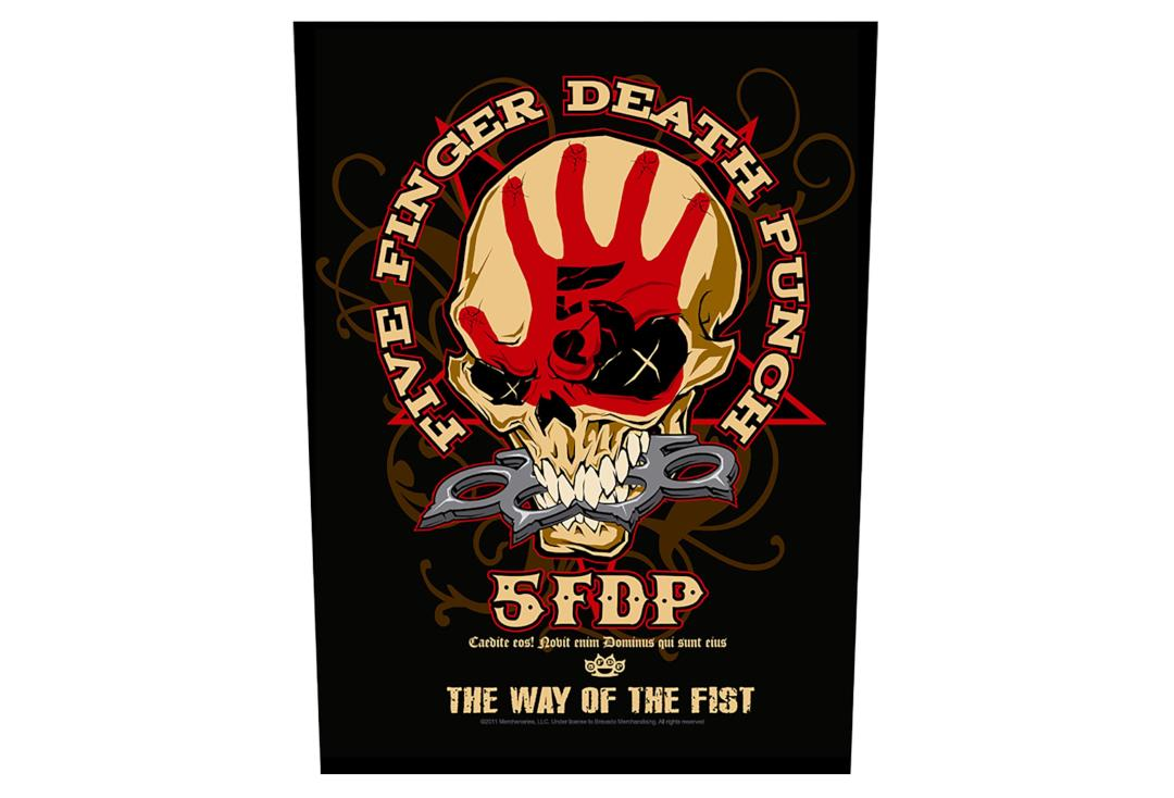 Official Band Merch | Five Finger Death Punch - The Way Of The Fist Printed Back Patch