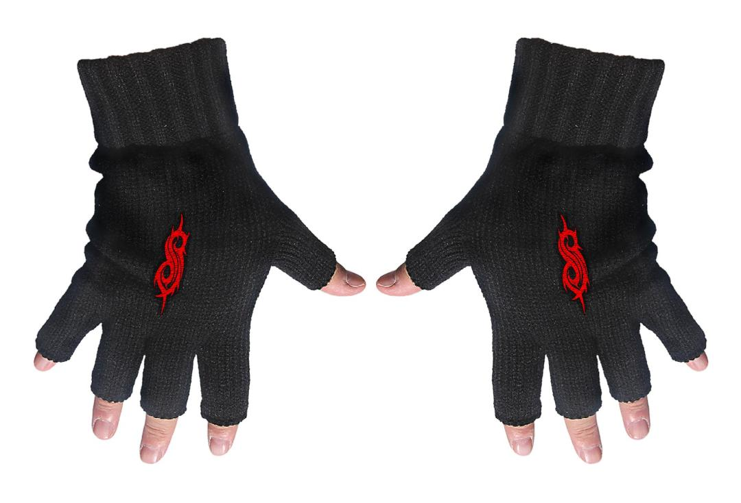 Official Band Merch | Slipknot - Tribal S Embroidered Knitted Finger-less Gloves